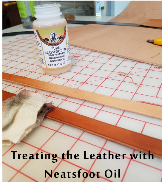 Applying oil to leather