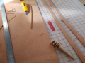 Cutting leather straps