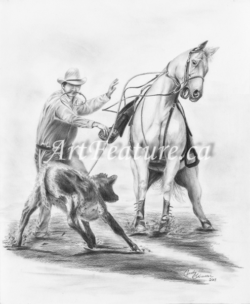 Western Series - 13.5 x 16.5 Graphite on Bristol