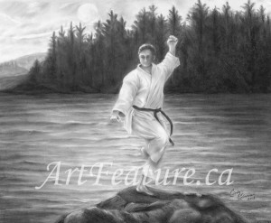 Karate Series - 10 x 8 Graphite and Charcoal